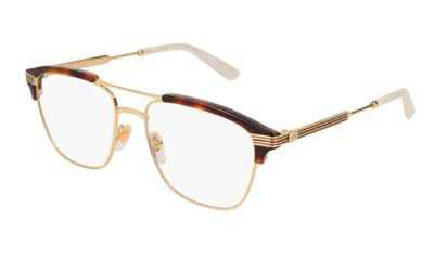 Gucci GG0241O 001-gold-gold-transparent 54 Uomo