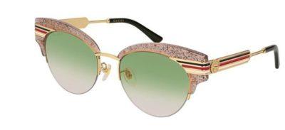 Gucci GG0283S 003-nude-gold-green 53 Akiniai nuo saulės Moterims