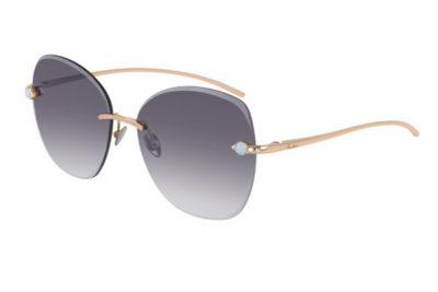 Pomellato PM0066S 001 gold gold grey 57 Akiniai nuo saulės Moterims