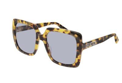 Gucci GG0418S 004-havana-havana-violet 54 Akiniai nuo saulės Moterims
