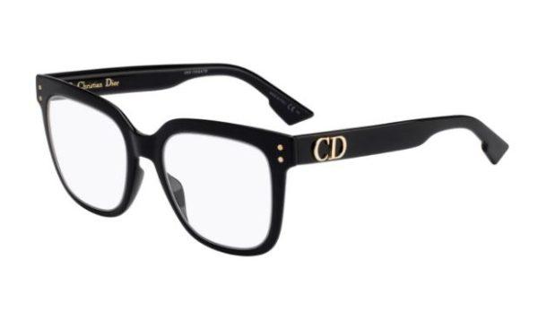 Christian Dior Diorcd1 807/20 BLACK 50 Akinių rėmeliai Moterims