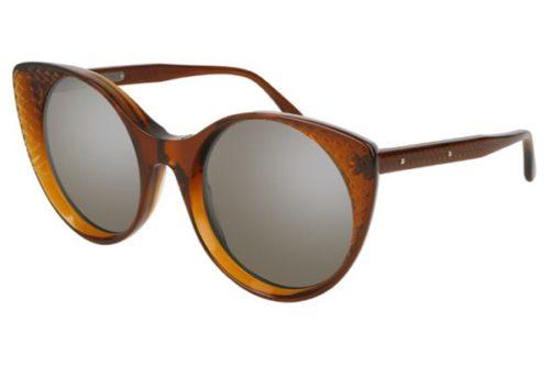Bottega Veneta BV0148S 002-brown 54 Akiniai nuo saulės Moterims