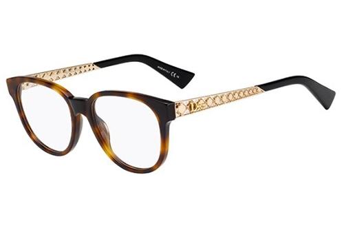 Christian Dior Dioramao2 DA0/17 HAVANA GOLD 51 Akinių rėmeliai Moterims