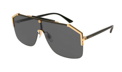 Gucci GG0291S 001 gold black grey  Akiniai nuo saulės Vyrams