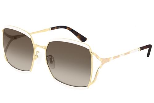 Gucci GG0593SK 003 ivory gold brown 59 Akiniai nuo saulės Moterims
