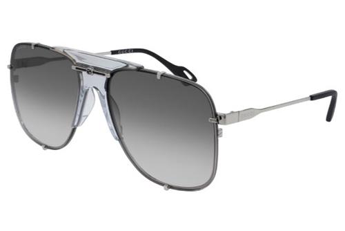 Gucci GG0739S 001 silver silver grey 63 Akiniai nuo saulės Moterims