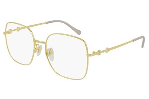 Gucci GG0883OA 001 gold gold transparent 55 Akinių rėmeliai Moterims