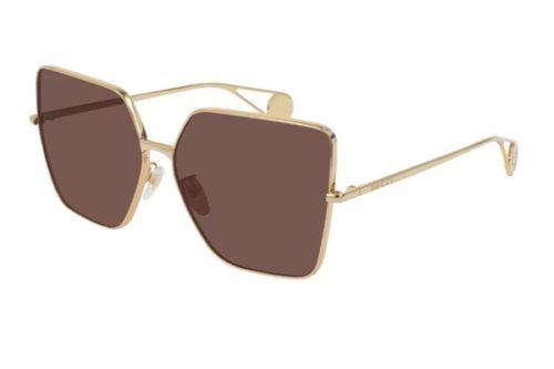 Gucci GG0436S 001 gold gold red 61 Akiniai nuo saulės Moterims