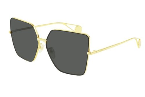 Gucci GG0436S 002 gold gold grey 61 Akiniai nuo saulės Moterims