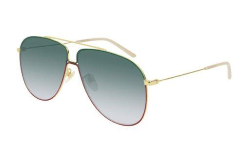 Gucci GG0440S 008 gold gold green 63 Akiniai nuo saulės Vyrams