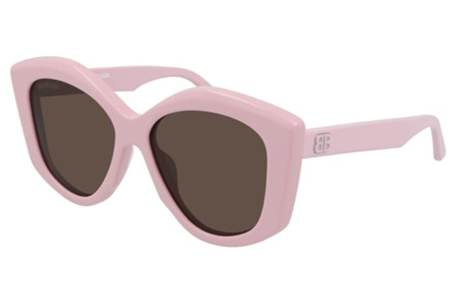 Balenciaga BB0126S 003 pink pink brown 56 Akiniai nuo saulės Moterims