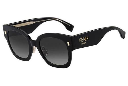 Fendi Ff 0458/g/s 807/9O BLACK 52 Akiniai nuo saulės Moterims