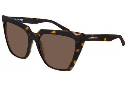Balenciaga BB0046S 002 havana brown 55 Akiniai nuo saulės Moterims