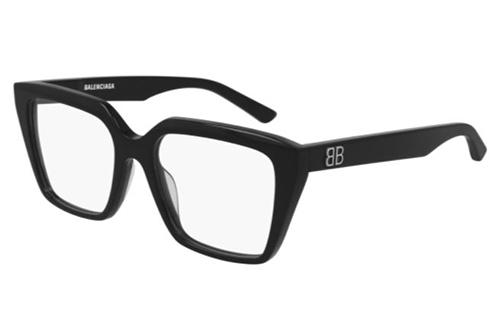 Balenciaga BB0130O 001 black black transpare 53 Akinių rėmeliai Moterims
