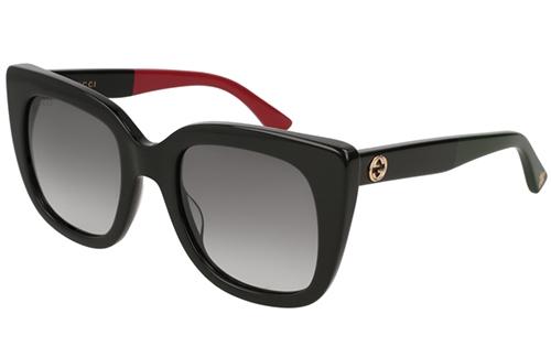 Gucci GG0163S 003 black grey 51 Akiniai nuo saulės Moterims