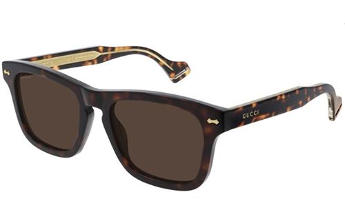 Gucci GG0735S 003 havana brown 53 Akiniai nuo saulės Vyrams