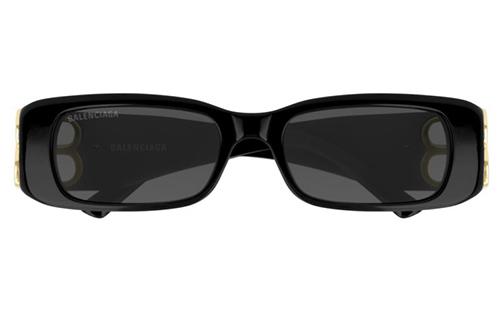 Balenciaga BB0096S 001 black gold grey 51 Akiniai nuo saulės Moterims