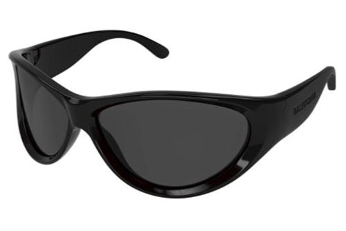 Balenciaga BB0158S 001 black black grey 71 Akiniai nuo saulės Unisex
